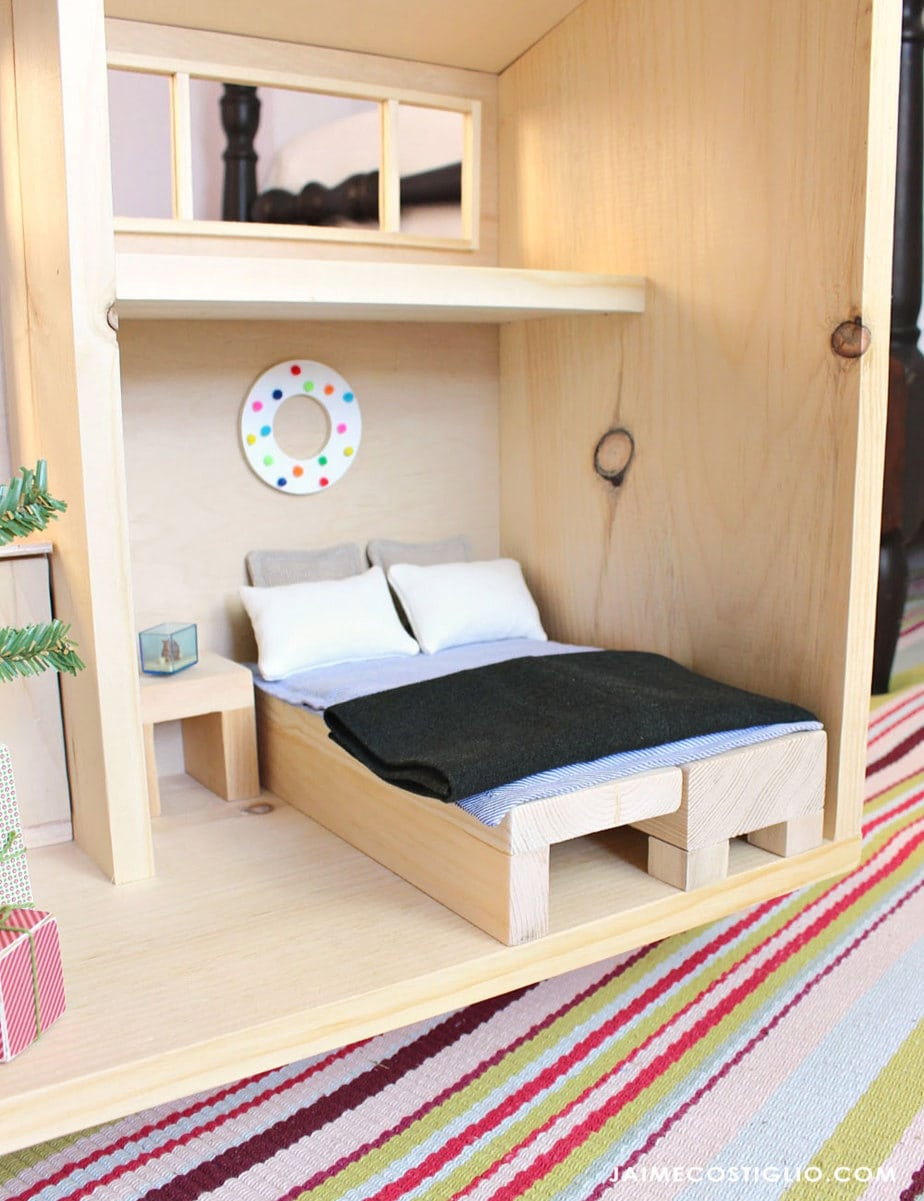 barbie size tiny house furniture bed