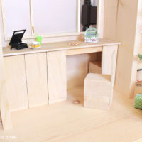 barbie size tiny house dollhouse convertible furniture