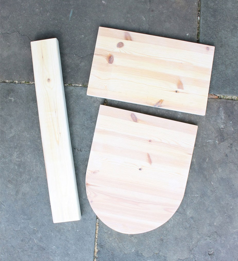wood pieces for basketball hoop