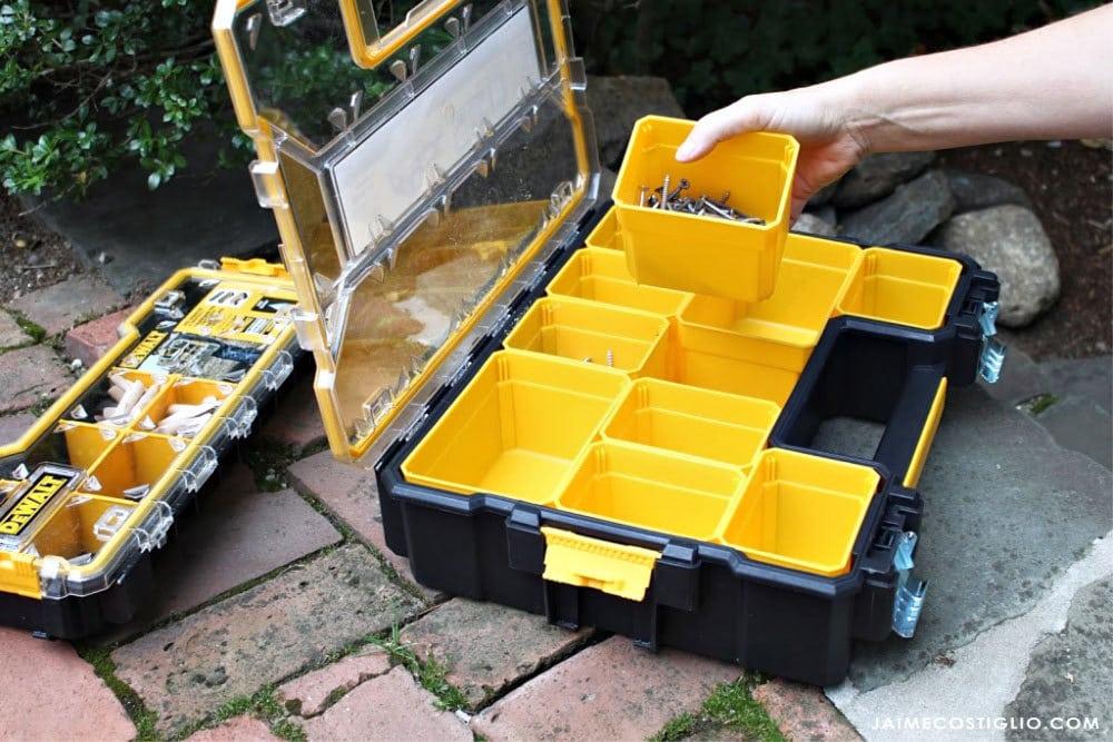 dewalt organizer removable bins