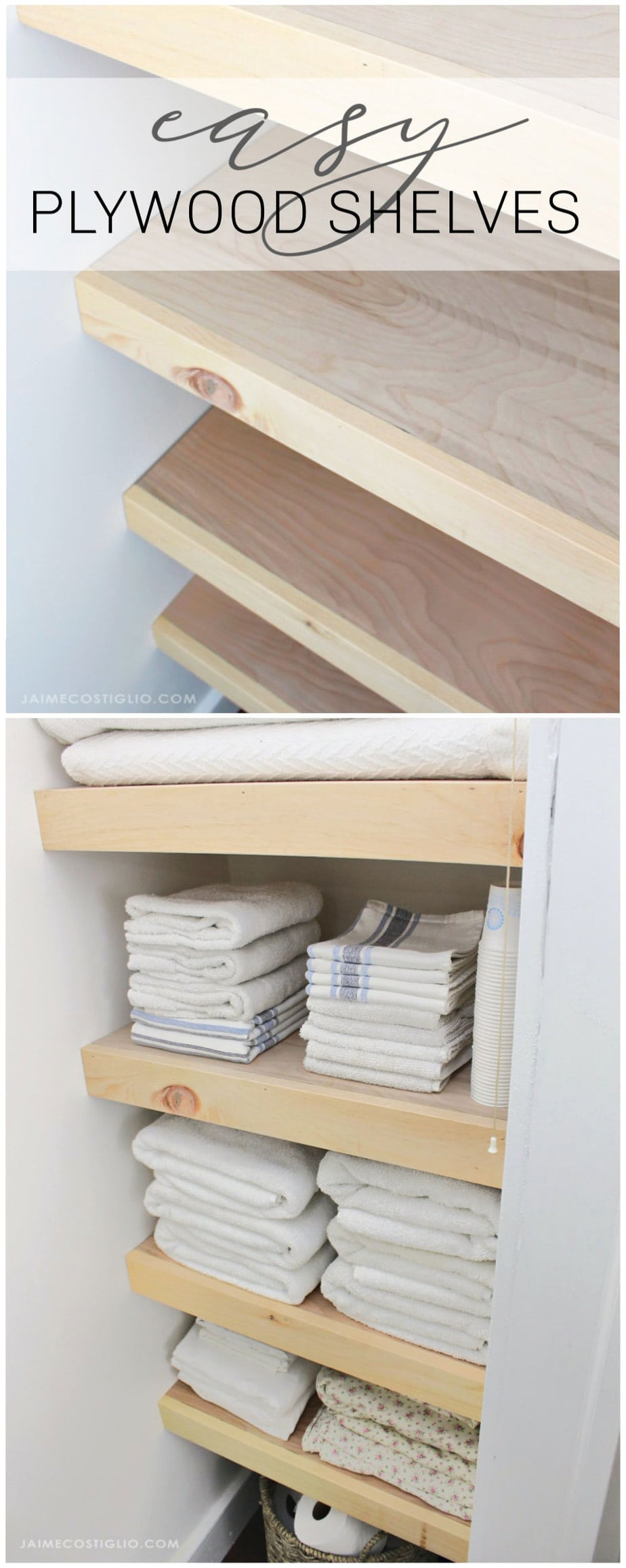 easy plywood shelves