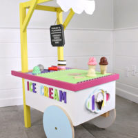 kids ice cream cart