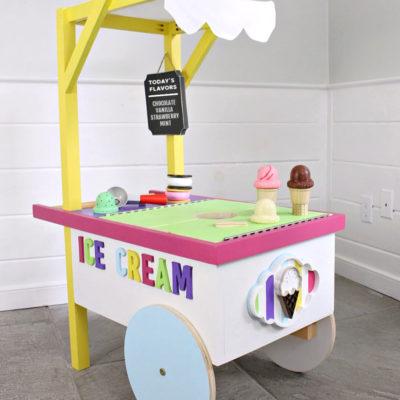 DIY Kids Play Ice Cream Cart