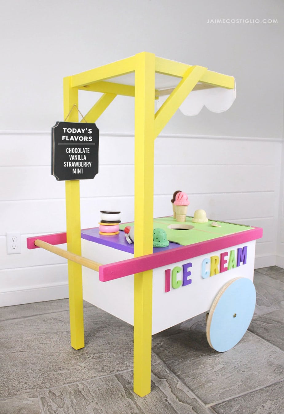 diy kid sized ice cream cart