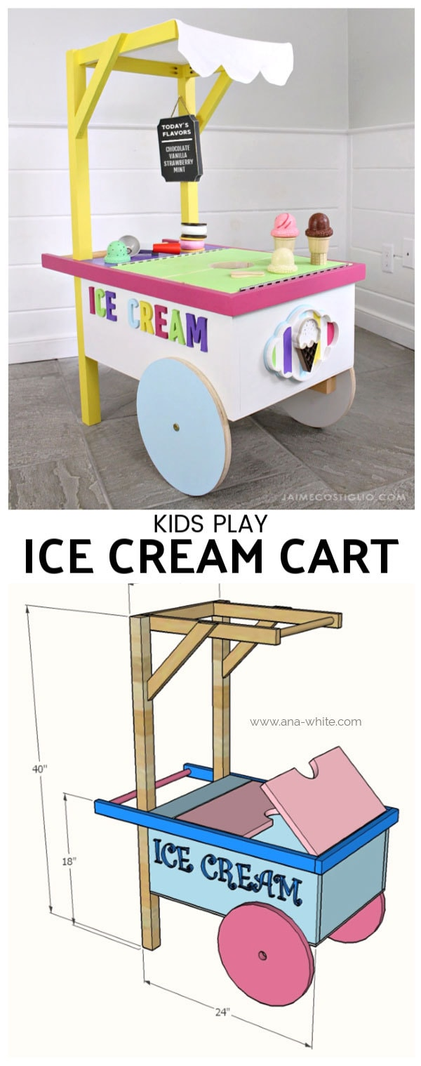 kids play ice cream cart free plans