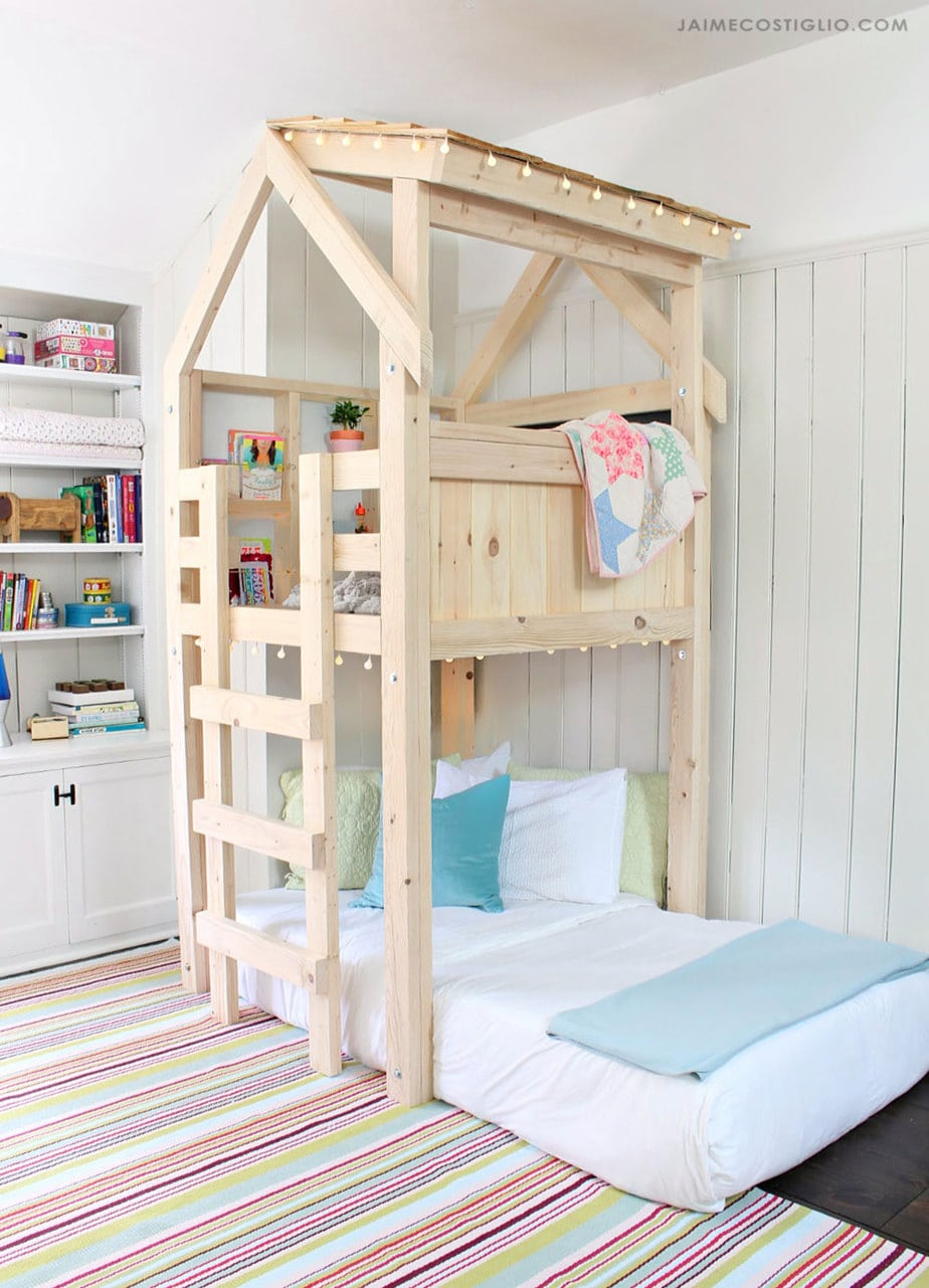 kids loft over twin bed