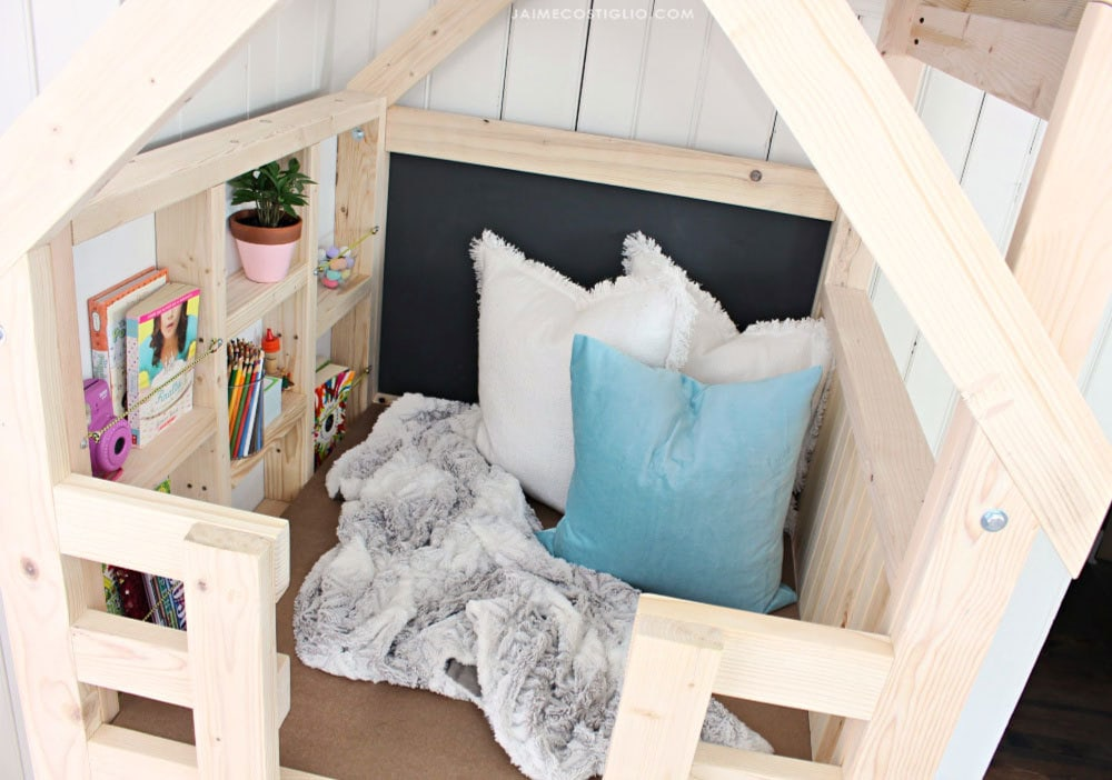 cozy kids indoor playhouse loft space