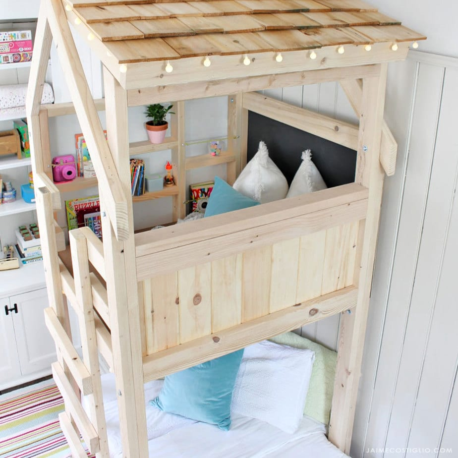 kids loft with twin bed