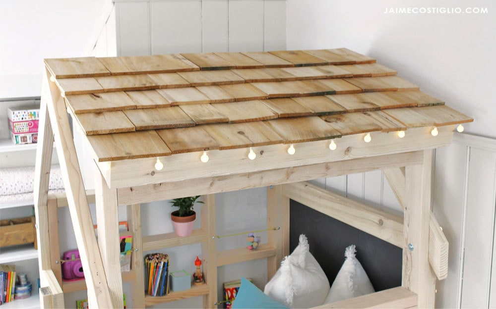 cedar shake roof on kids loft