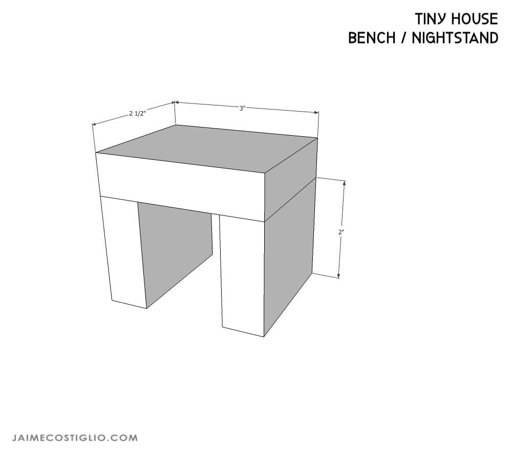 tiny house bench dimensions