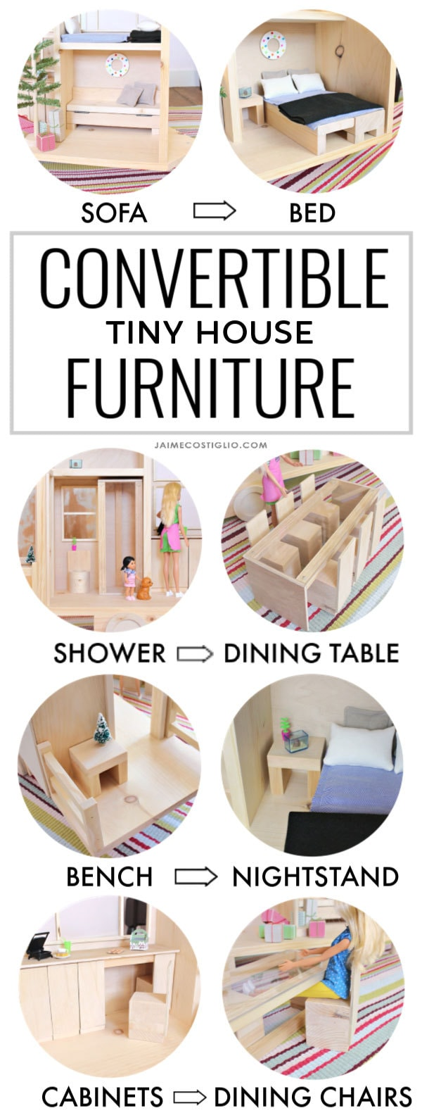 Tiny House Dollhouse Convertible Furniture