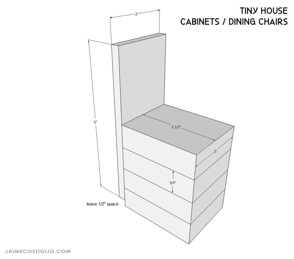 tiny house dining chairs dimensions
