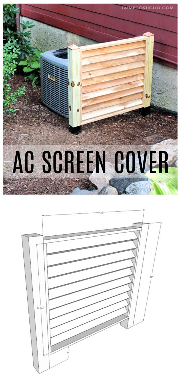 ac louvered screen cover free plans