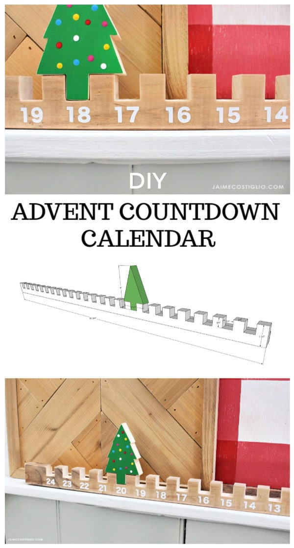 diy advent countdown calendar free plans