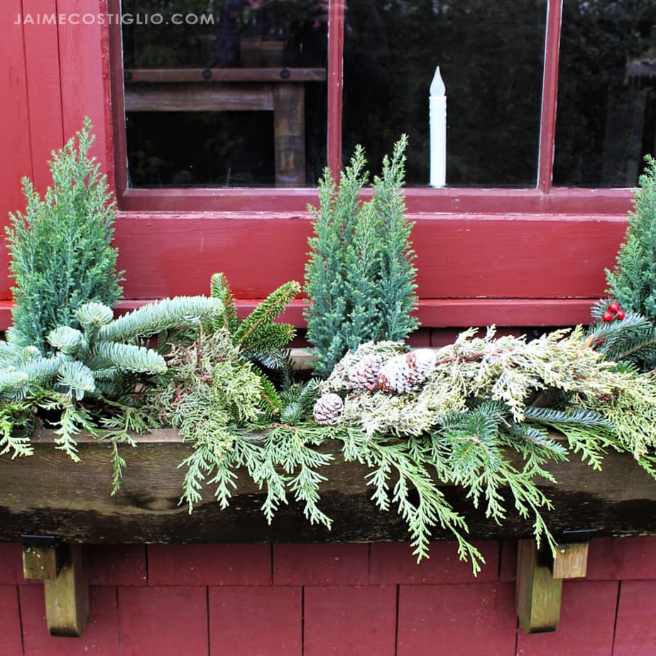 christmas windowbox