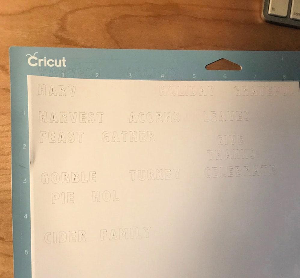 cricut maker cut out letters