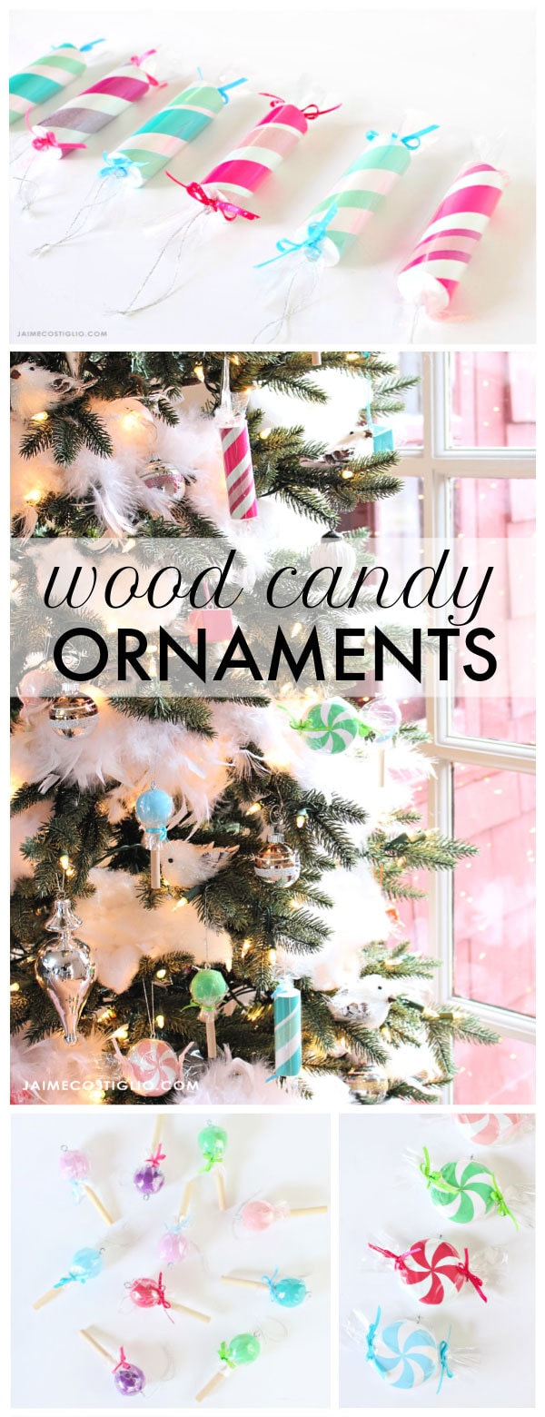 diy wood candy ornaments