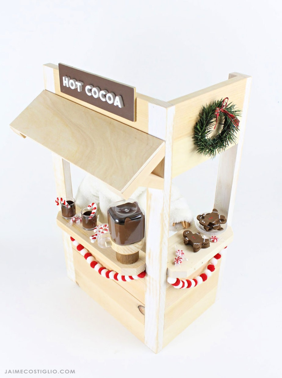 diy doll size hot cocoa booth