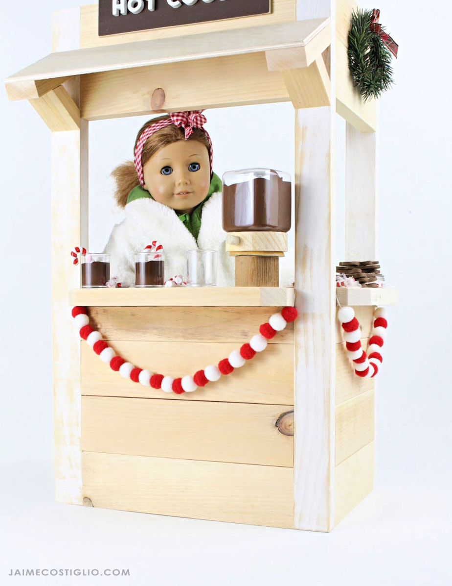 "diy 18"" doll wood snack shack"