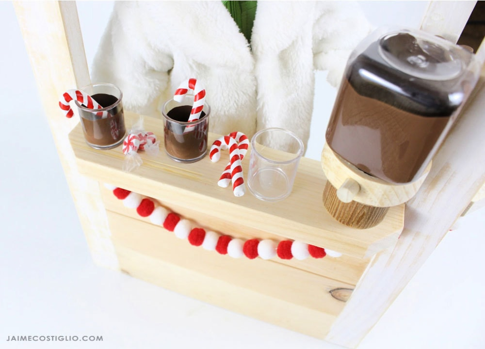 doll size hot cocoa stand
