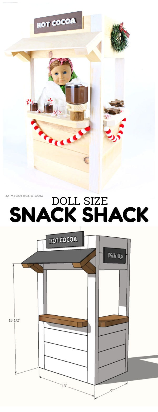 diy doll size snack shack free plans