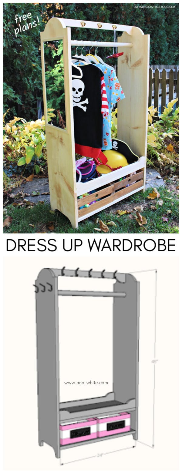 dress up wardrobe free plans
