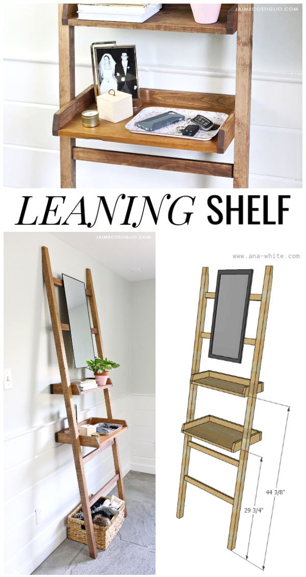 free plans leaning shelf