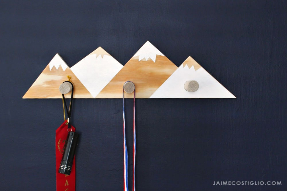 diy mountain wall hooks