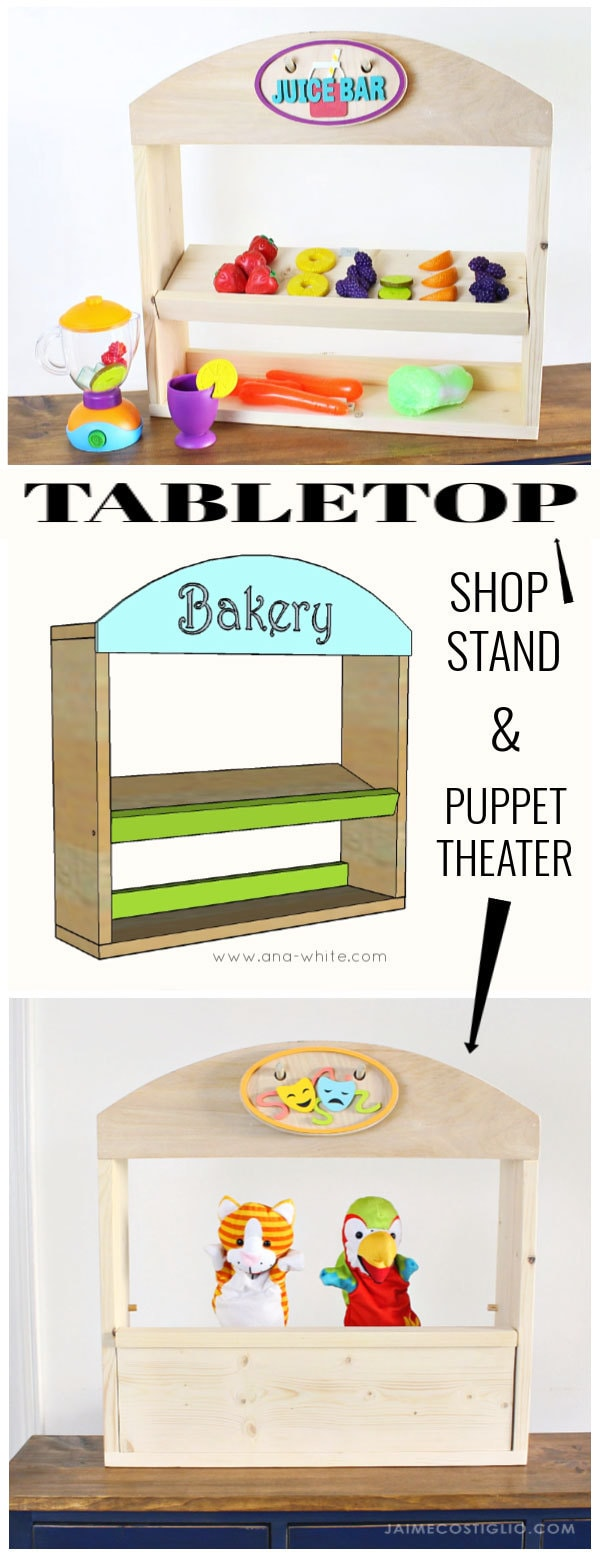 tabletop shop stand and puppet theater free plans