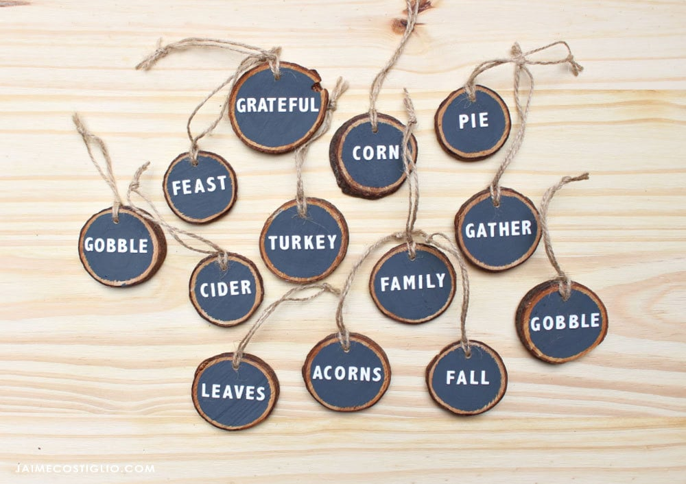 thanksgiving chalkboard ornaments