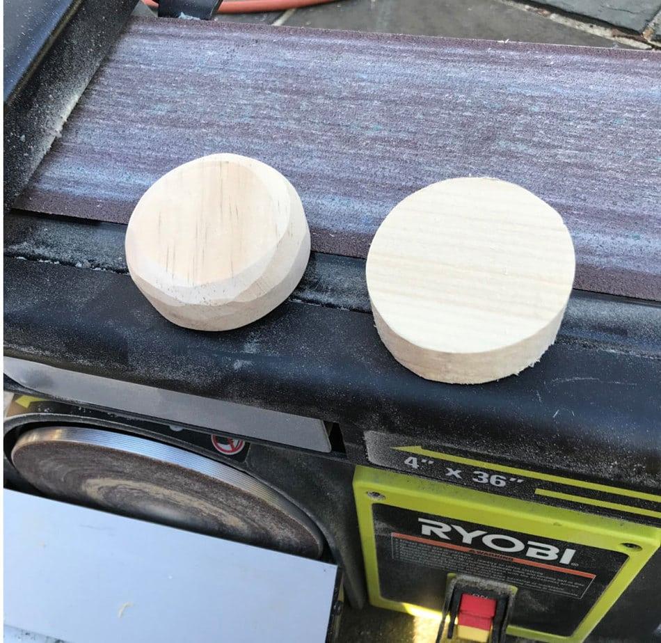 wood circle sanded