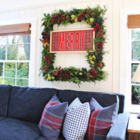 large rectangular wreath
