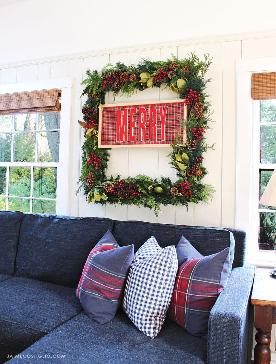 large rectangular wreath