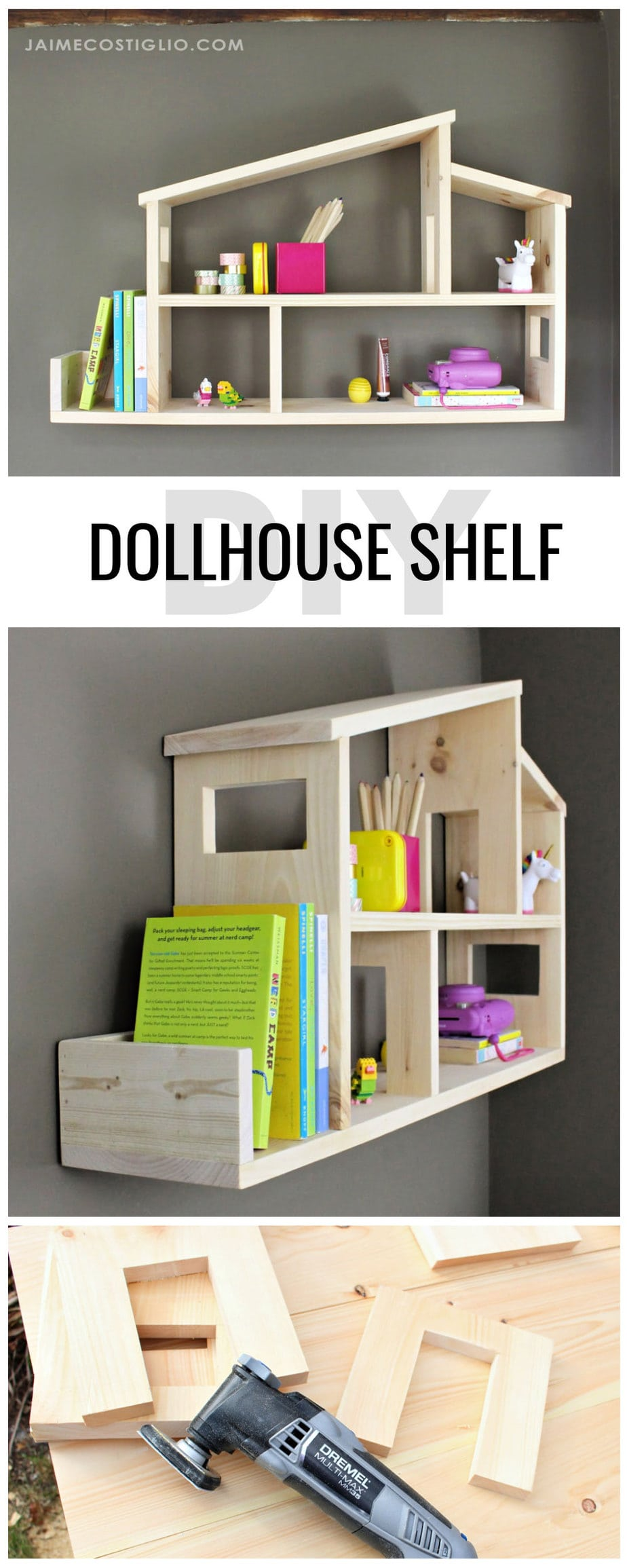 diy dollhouse shelf plans