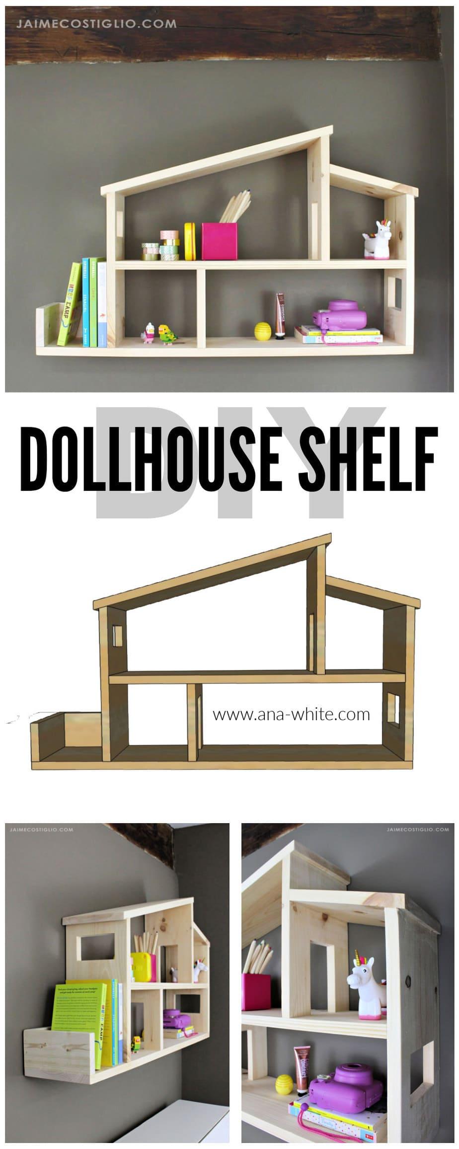 diy dollhouse shelf