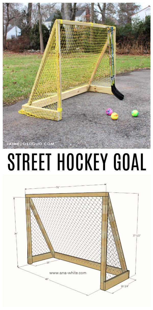 diy street hockey goal free plans