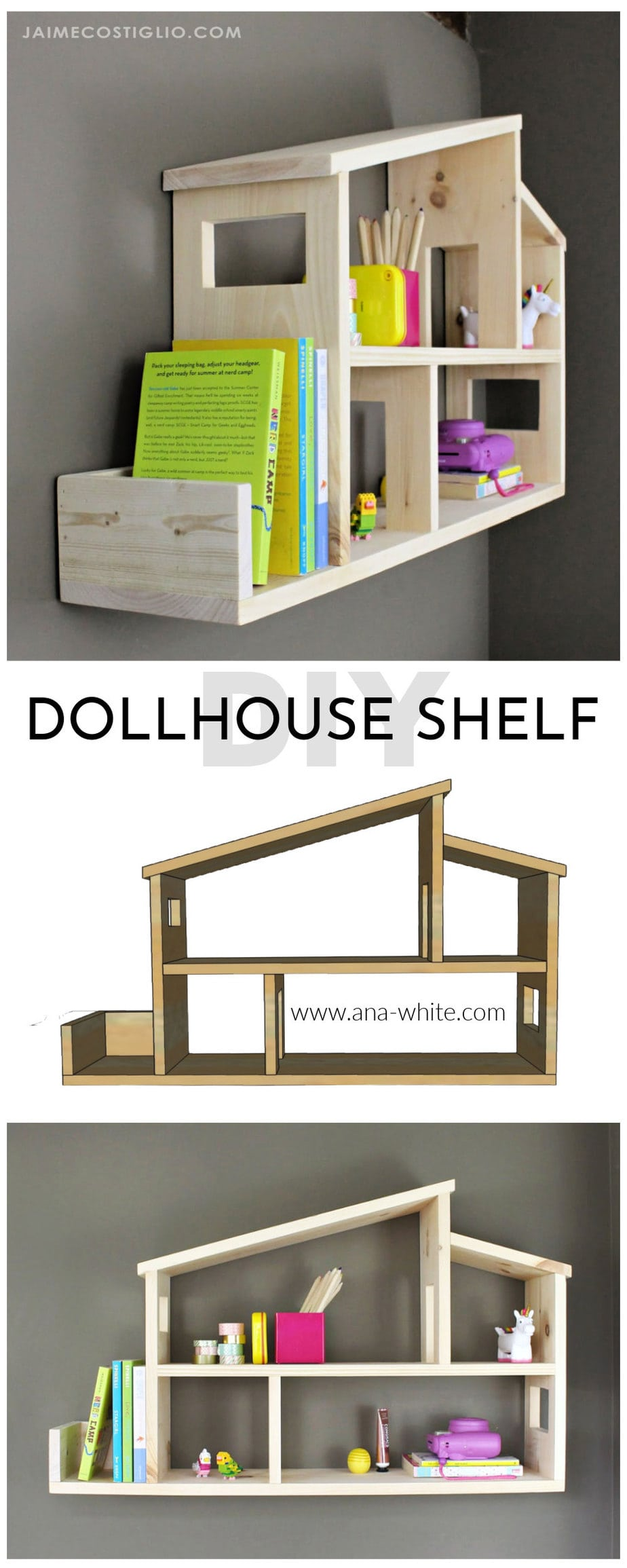 dollhouse shelf plans