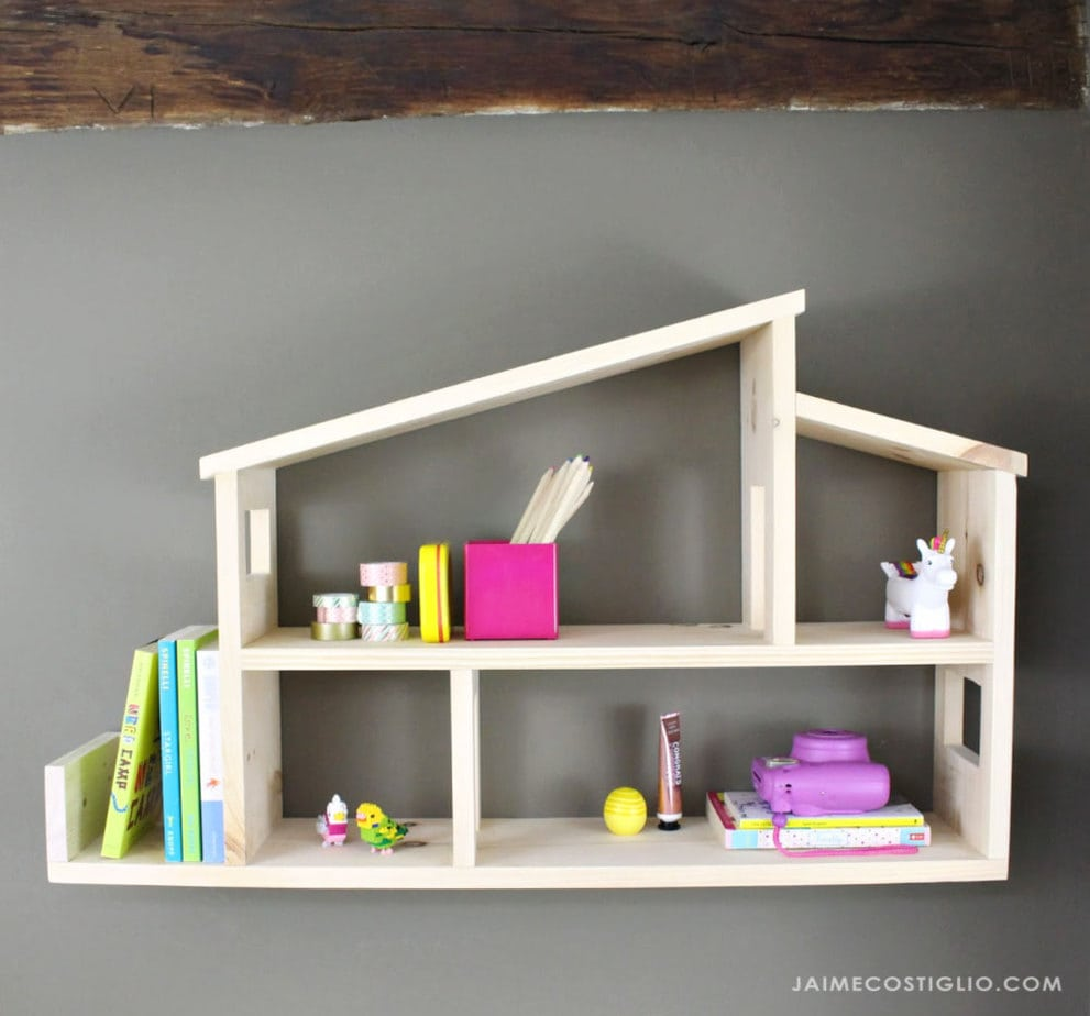 modern house wall shelf