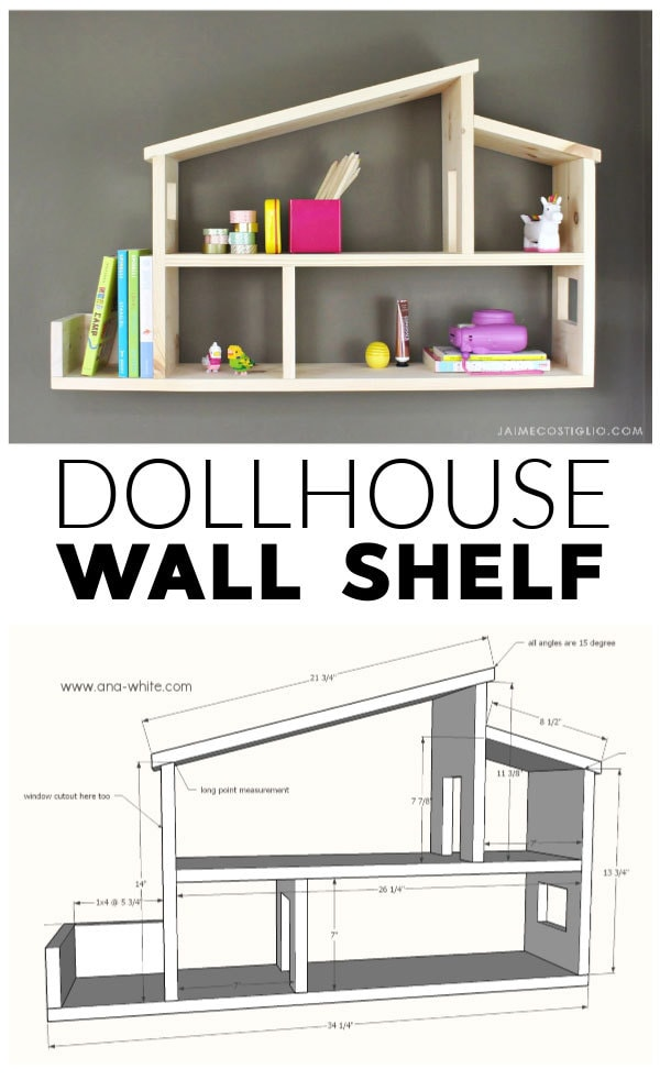 diy dollhouse wall shelf free plans