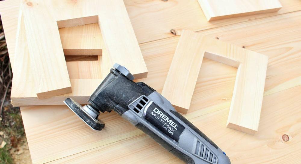 sanding interior cuts with multi-max