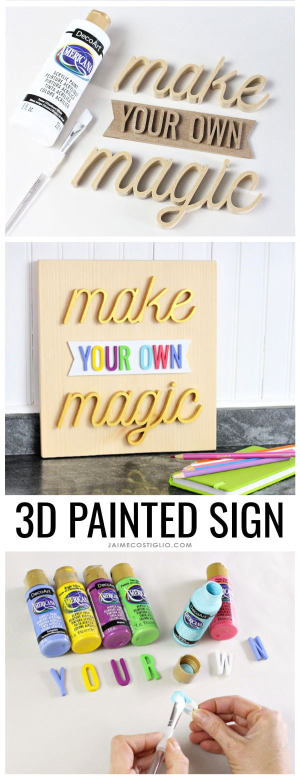 3d painted sign tutorial