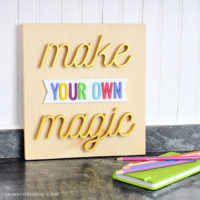 make your own magic 3d sign