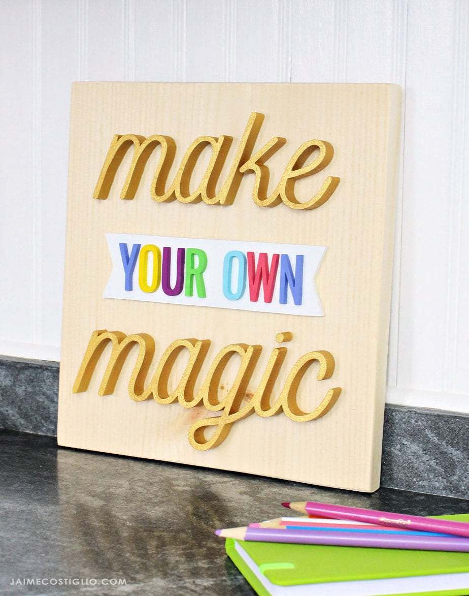 diy 3d painted sign