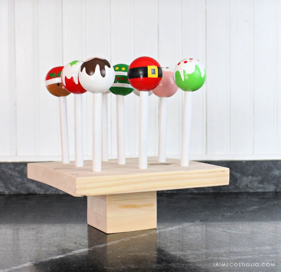 diy wood cake pops
