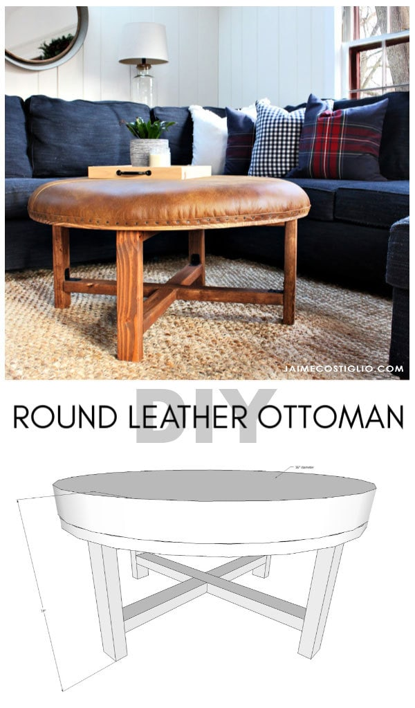 round leather ottoman free plans