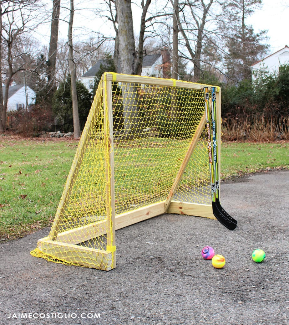 diy hockey goal with net
