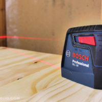 bosch 30' self leveling cross line laser