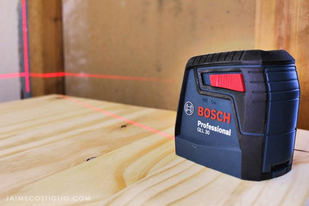 bosch 30' self leveling cross line laser