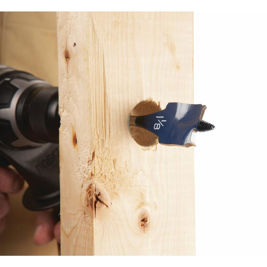 bosch daredevil spade bit through wood