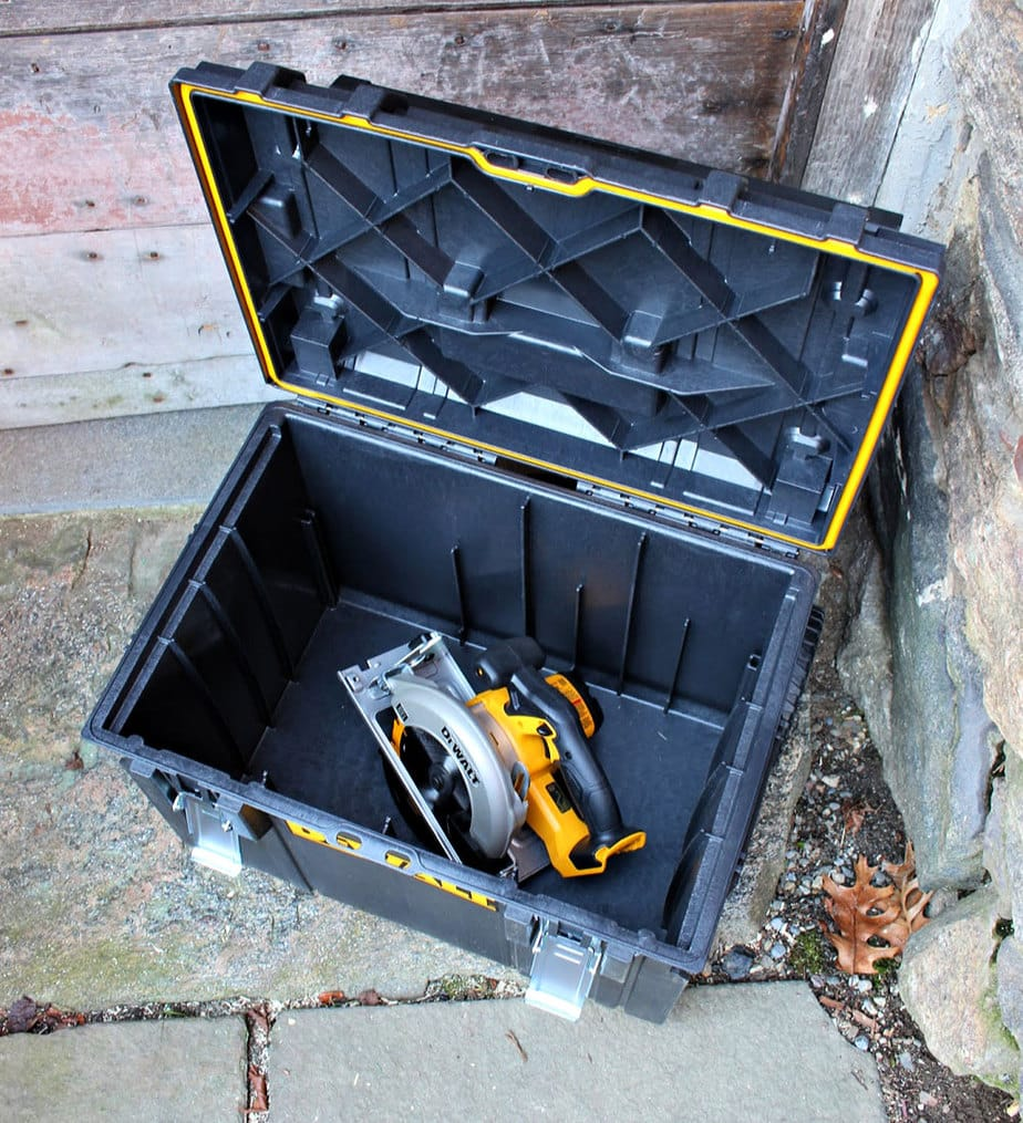 dewalt combo kit storage box open